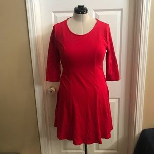 Forever 21 Plus Collection red skater dress sz 1x